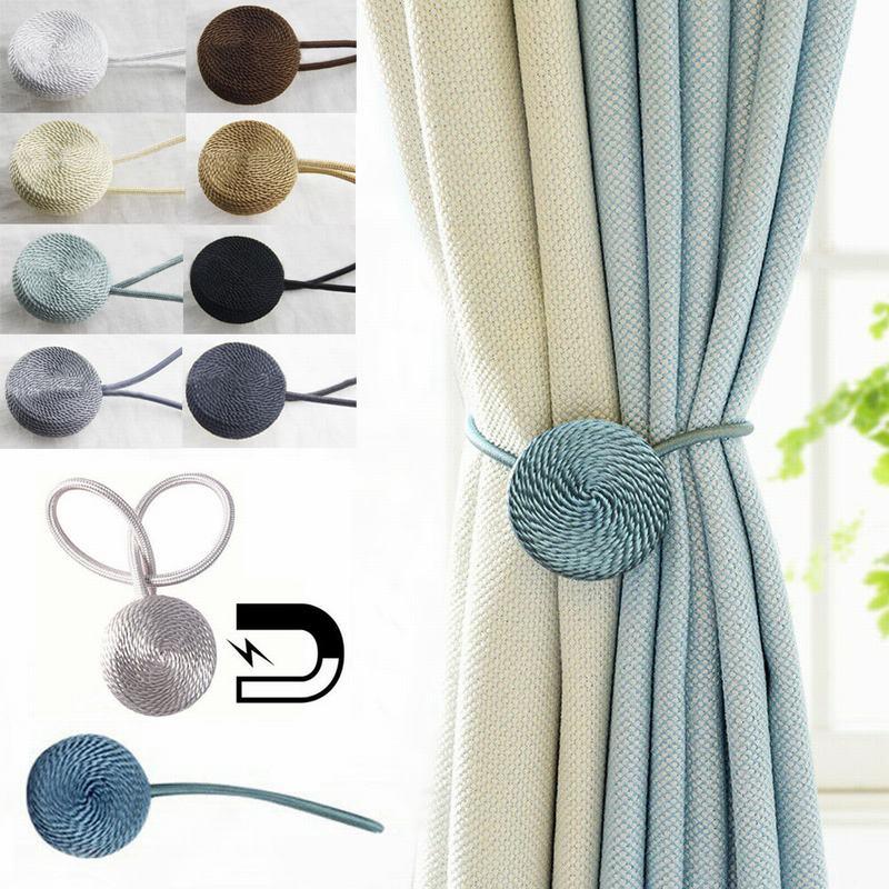Window Curtain Tieback Holdback Tie Back Magnetic Drapery Holder Home Decor Home