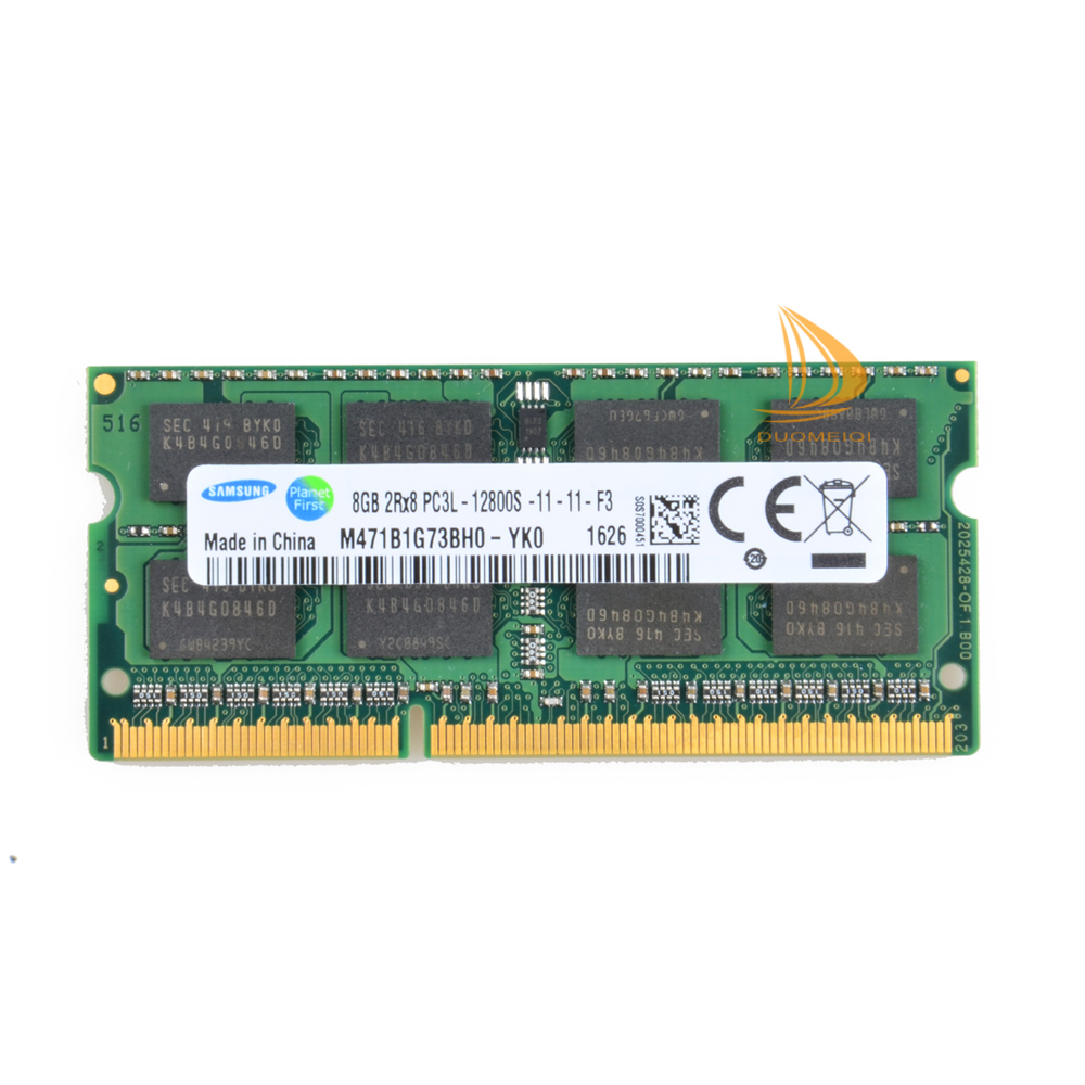 For Samsung DDR3 1600MHz 8GB PC3L-12800S DIMM 204PIN Laptop memory NEW RAM 8G B