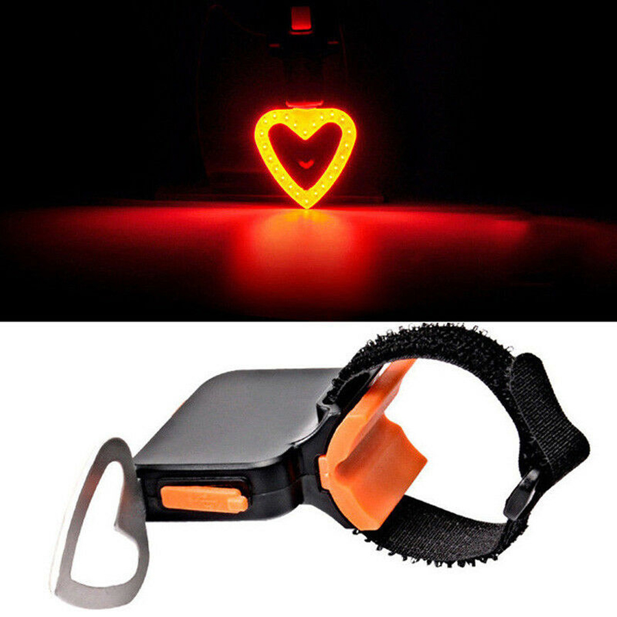 2019 USB Rechargeable Bike Rear Tail Light LED Bicycle Warning Safety Smart Lamp