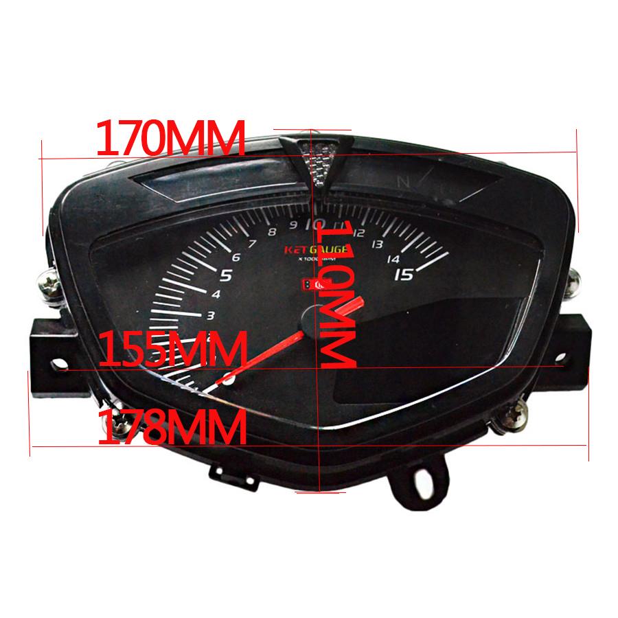 12v Motorcycle Odometer Tachometer Lcd Digital Speedometer