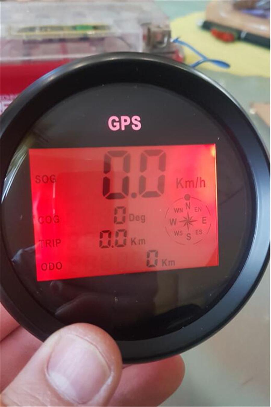 Mph Sog Cog Odo Trip Meter Gps Digital Speedometer Gauges