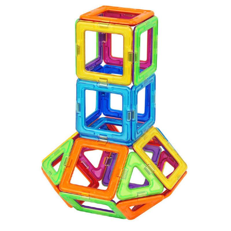 Mehrfarbig Magnetische Bausteine Kinder Puzzle Kreativität Spielzeug 10x Platz