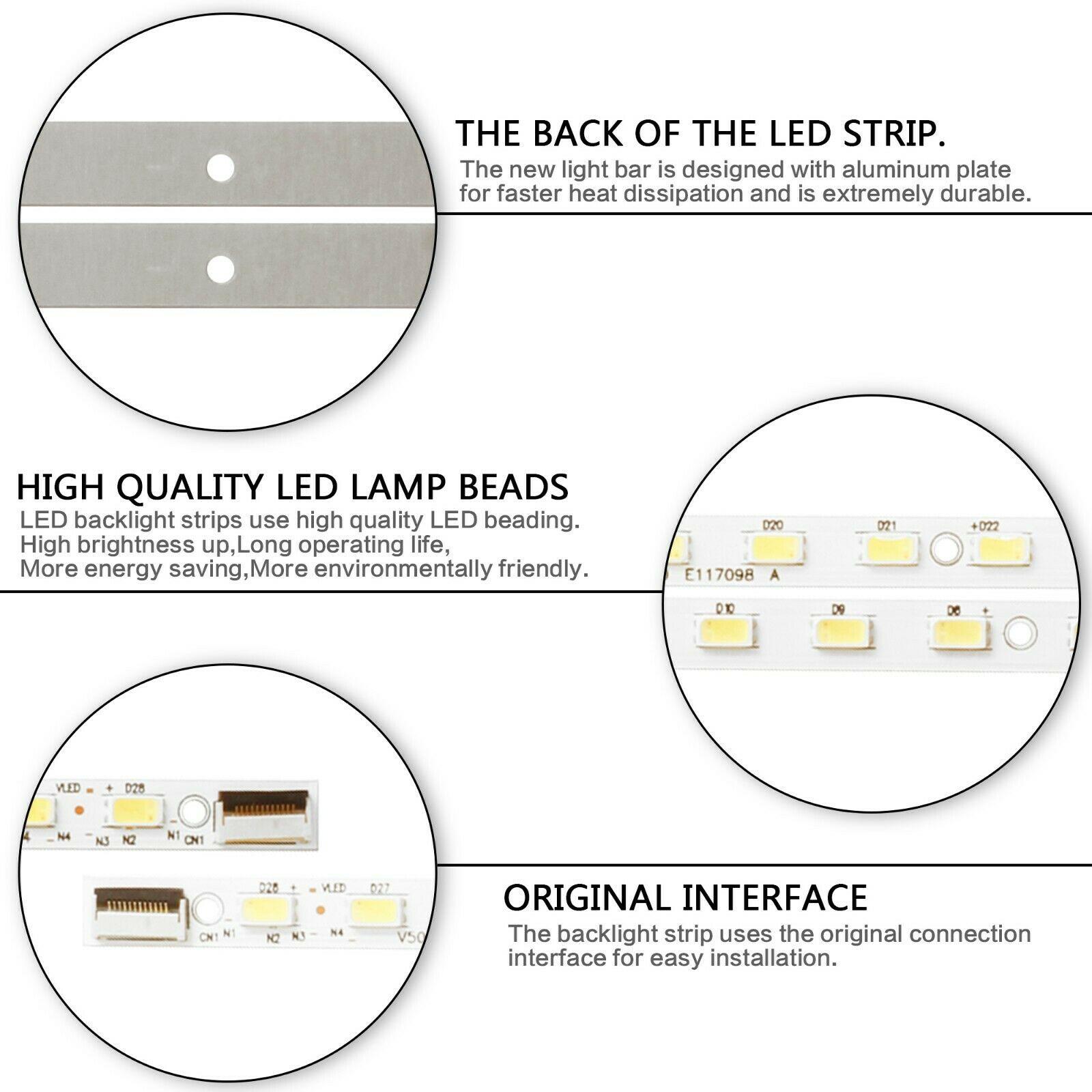 LED Strip Light Streifen For Sharp LC-50LE440U LC-50LE442U V500H1-LS5-TREM4