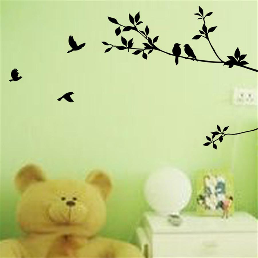 Removable Vinyl Hot Tree Branch Bird Decor Room Home Decals DIY Art ...