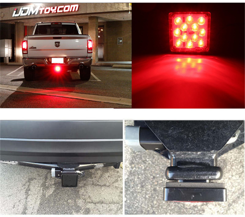 Smoked Lens 12 Led Brake Light Trailer Pickup Tail Lamp Fit Towing Chevy Luv Wiring Features