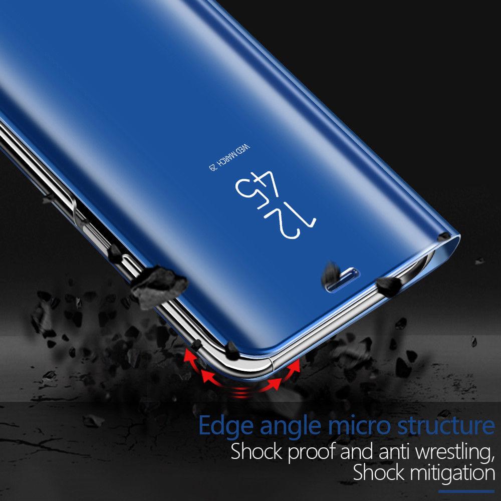 Flip Smart Case For Huawei Y9 Y6 Y5 Y7 Prime 2018 Clear