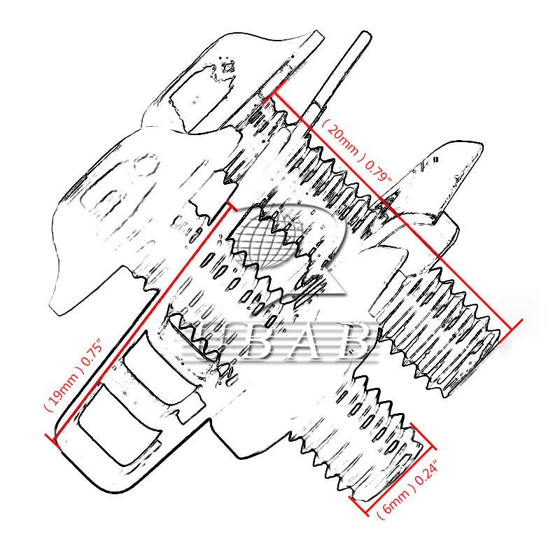 10 chrome m6 6mm aluminum fairing bolts kit fastener clip