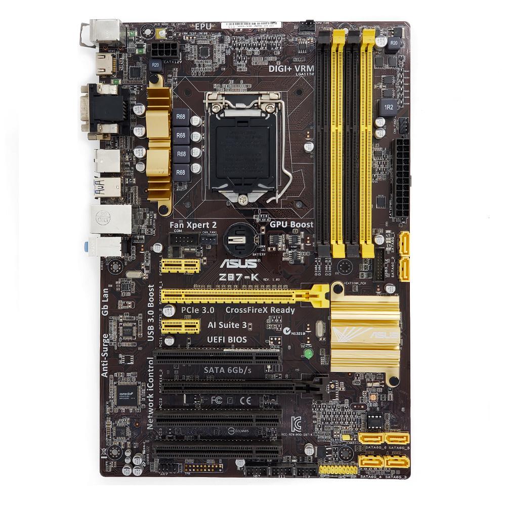 ASUS Z87-A Motherboard Intel Z87 LGA 1150//Socket H3 DDR3  I//O shield