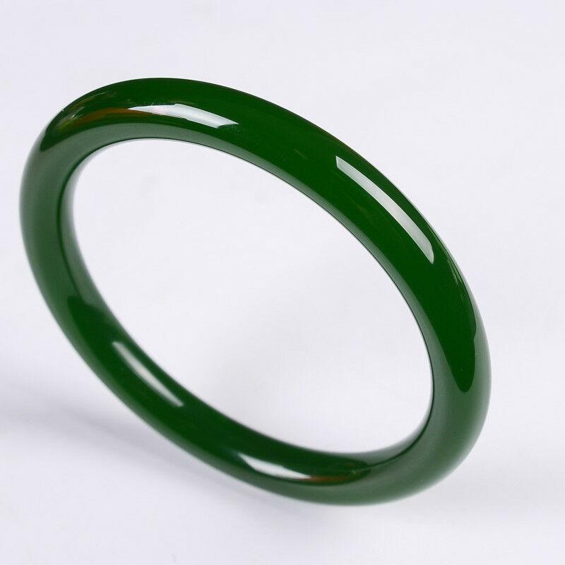 Green jasper round jade Bangles Hetian jade jade Bangles Natural Jade 56---64mm