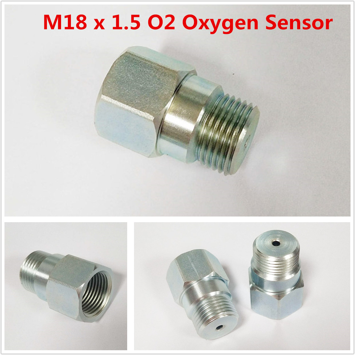 New Universal 125 Degree M18x1.5 Stainless Steel 18mm Oxygen Sensor O2 Extension