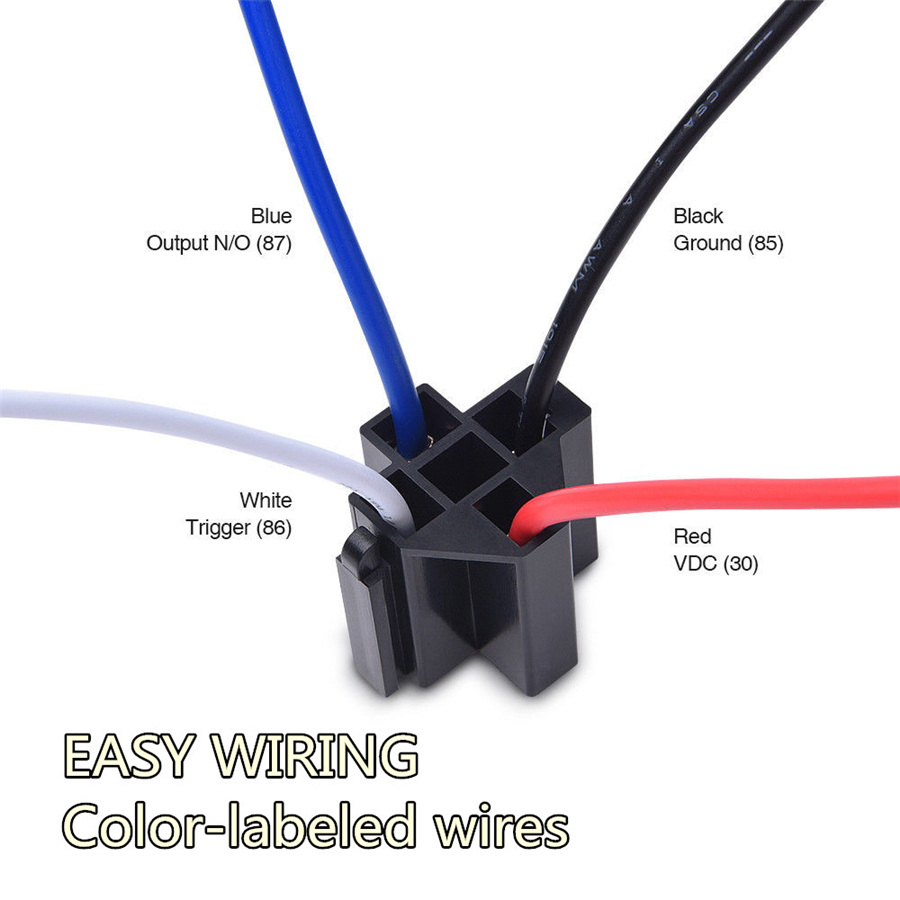 6pcs Car Relay Switch Harness Set 12v 4pin 30amp Fuse