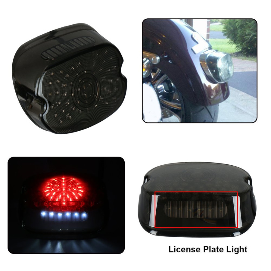 Details about Smoke Lens Low Profile Led Tail Light For Harley Tour on
