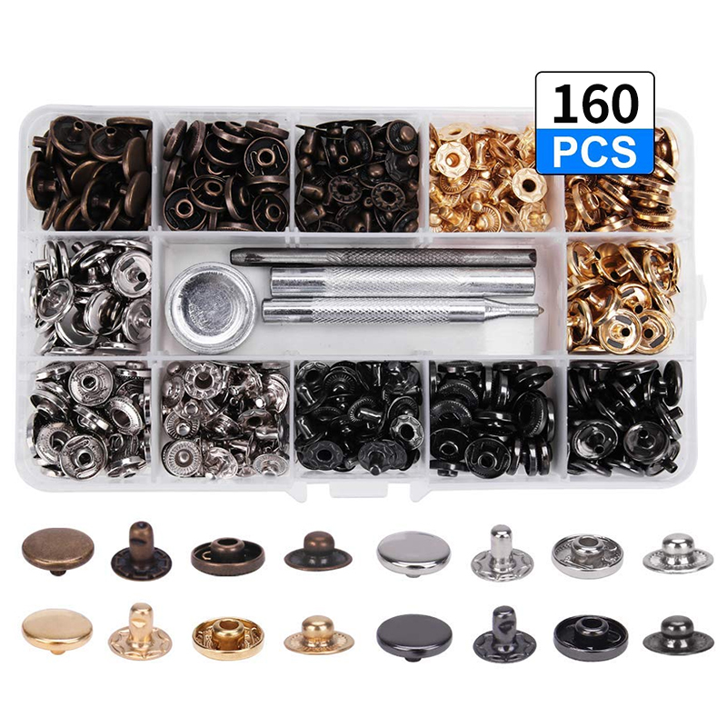 Arts,crafts & Sewing Buy Cheap 160pcs 12mm Metal Snap Buttons 4 Color Combination Kit With 4 Tools Snap Press Button Fasteners For Garments Clothing Jeans Coat Apparel Sewing & Fabric