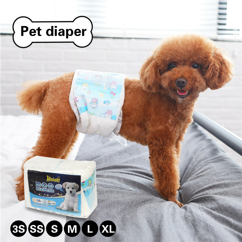 New Pet Diapers Female Dog Menstrual Sanitary Pants Puppy Disposable Nappy 10PCS