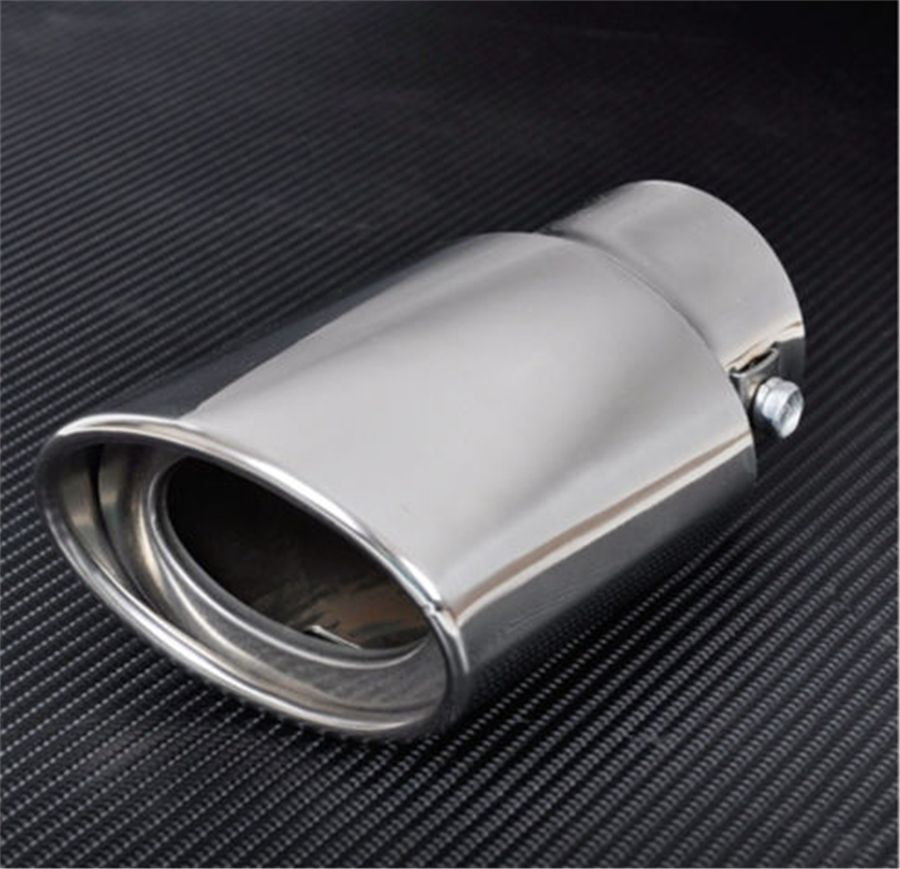 Us Stock Silver Chrome Tail Throat Exhaust Pipe Trim Tips Muffler For Car Auto: Us Car Exhaust At Woreks.co