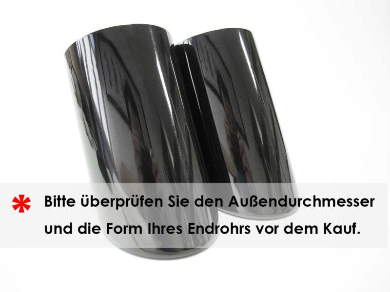universal schwarz auspuffblenden endrohre f r audi a1 a3. Black Bedroom Furniture Sets. Home Design Ideas