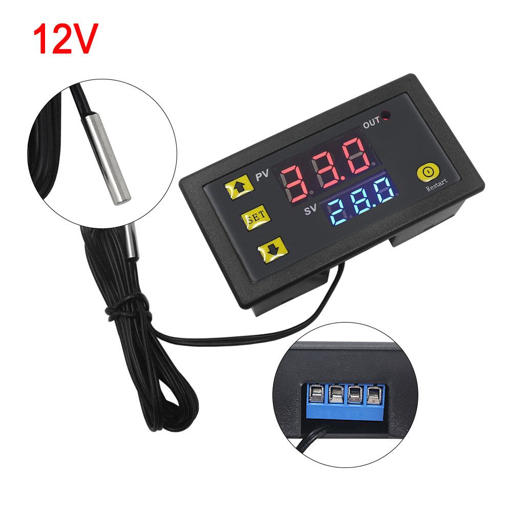 W3230 DC12V Thermostat Temperaturregelung Schalter Regler Thermometer mit LED
