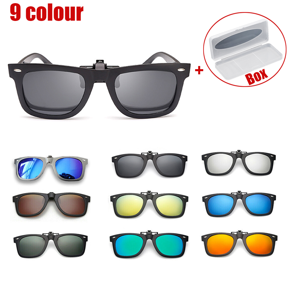 4 Colors  Polarized Sunglasses Clip Nose Driving Glasses Day Night Vision Lens