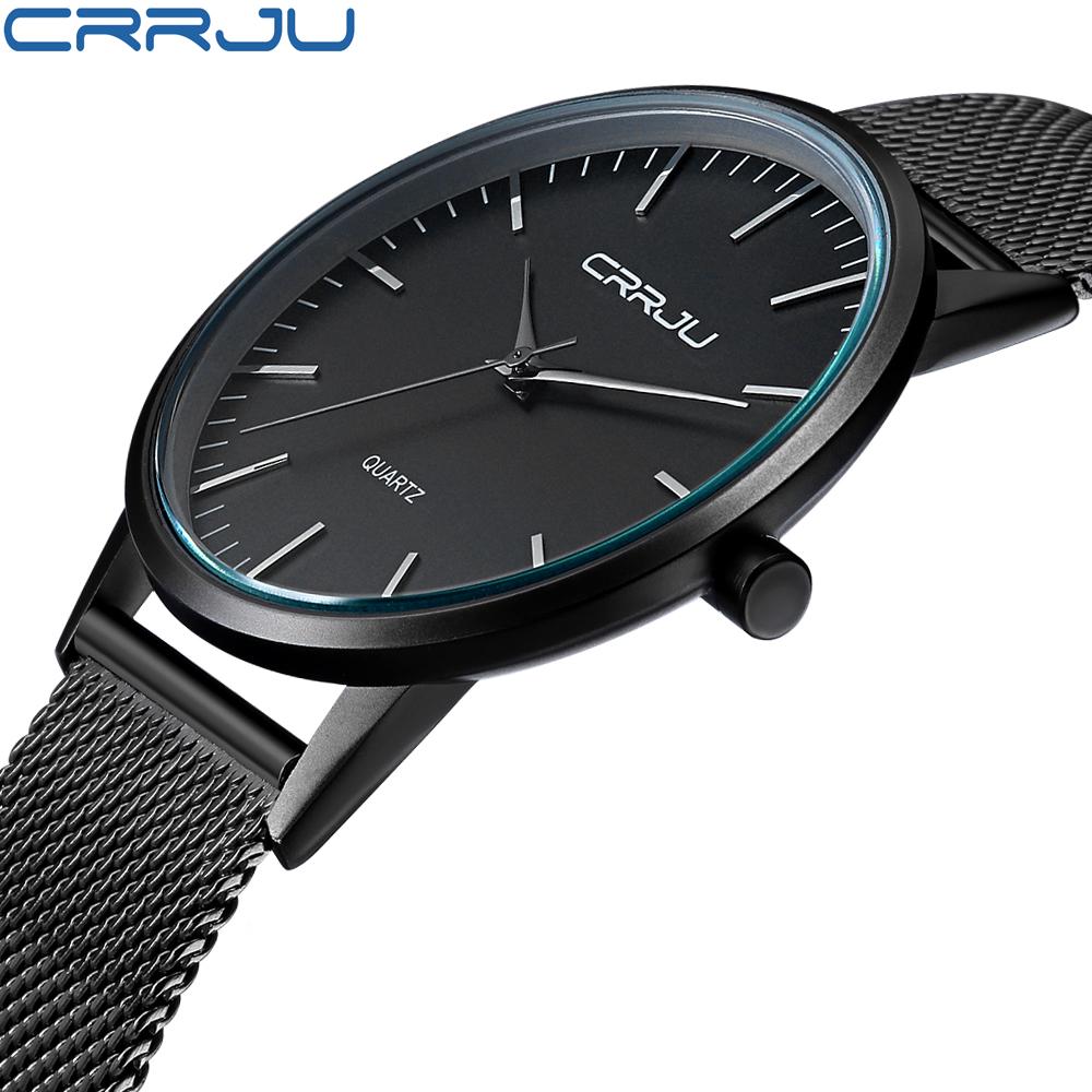 Men's Luxury Thin Casual Watch Sport Quartz Analog Wrist Watches Stainless  Steel