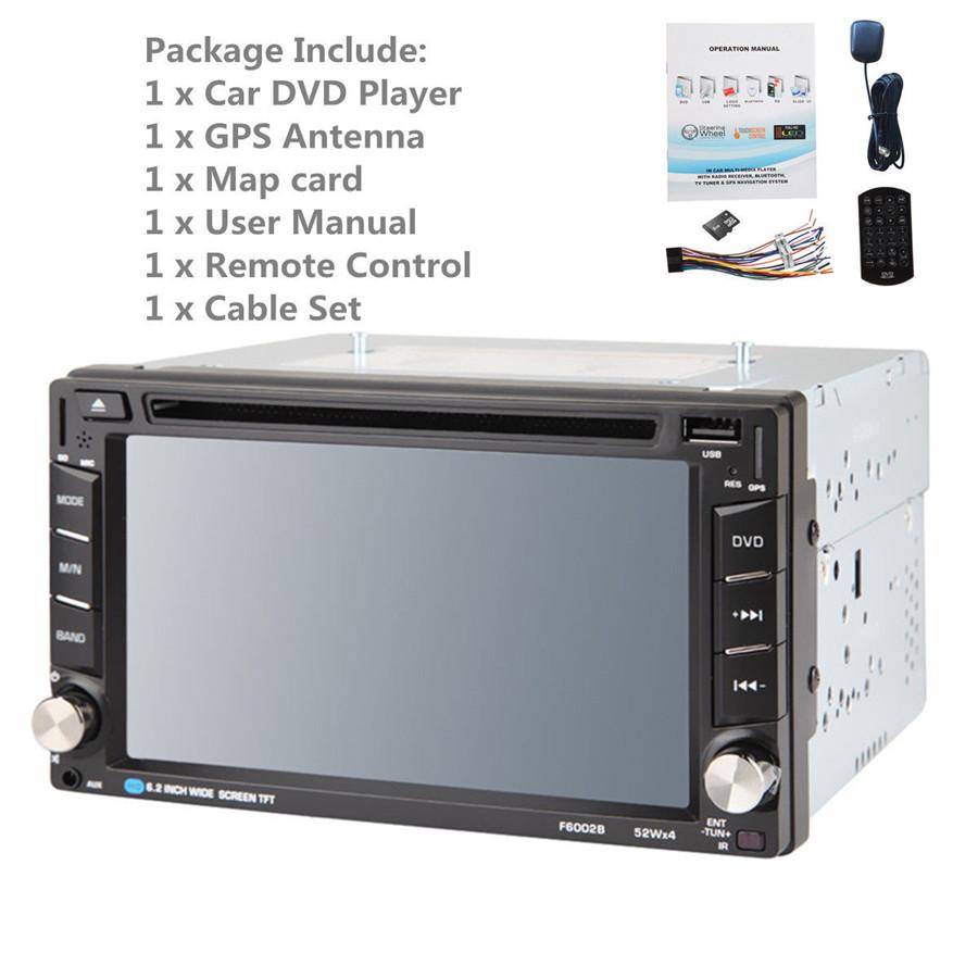 Bluetooth HD In Dash Car CD DVD Player Stereo FM Radio 6.2\