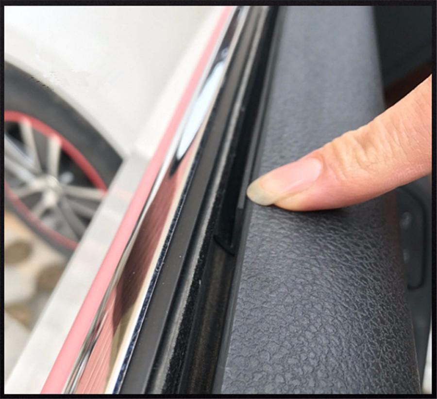 Universal 4m V Slot Rubber Seal Strip Car Door Window