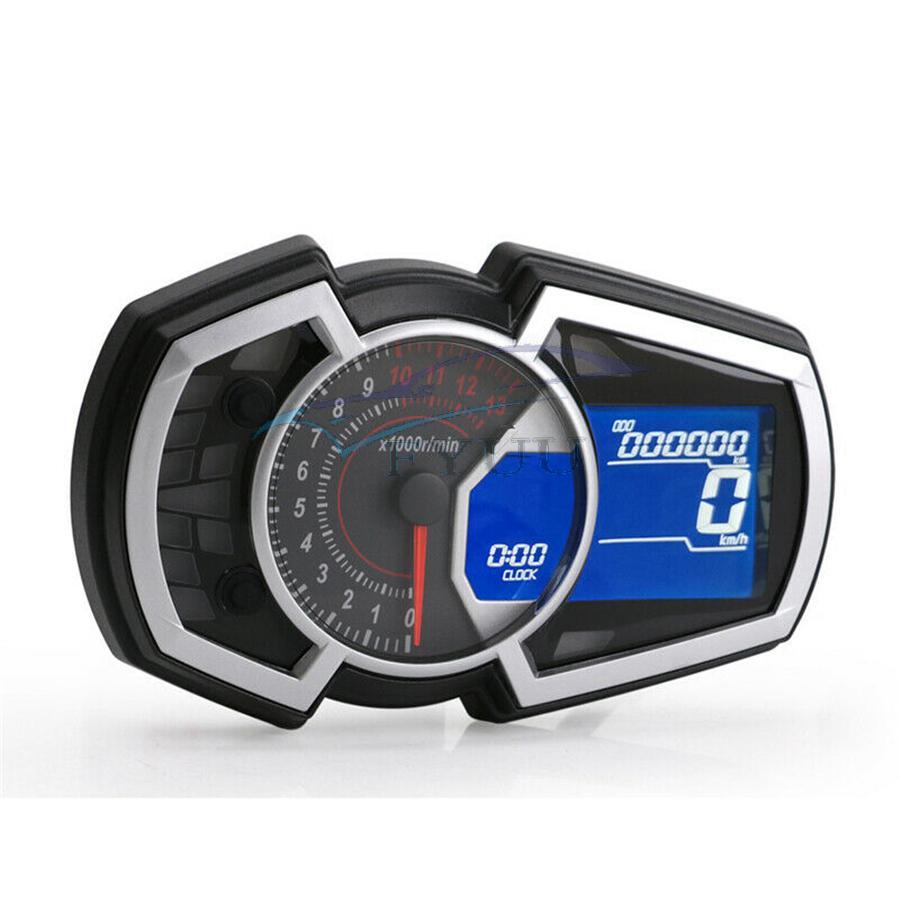 12v 13000rpm Universal Lcd Motorcycle Speedometer Odometer