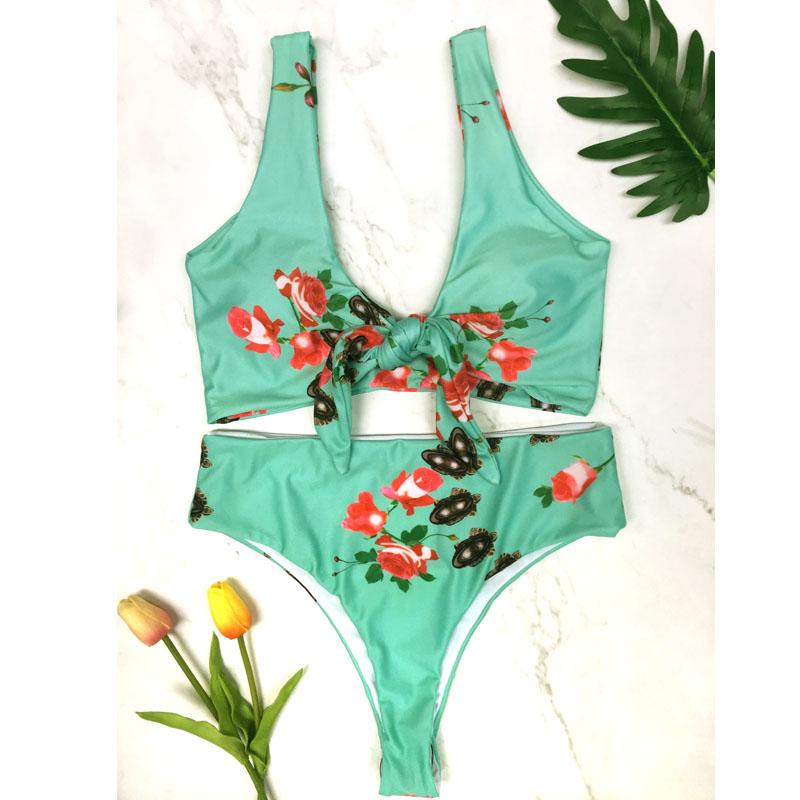 ELAESH Women Bikini Set Push-up Padded Bandage Swimsuit Underwire Swimwear Suit