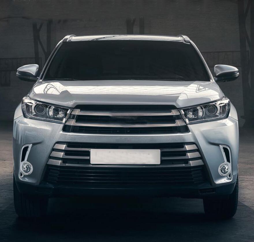 Chrome Front Fog Light Cover Trim For Toyota Highlander 2017-2019 Accessories