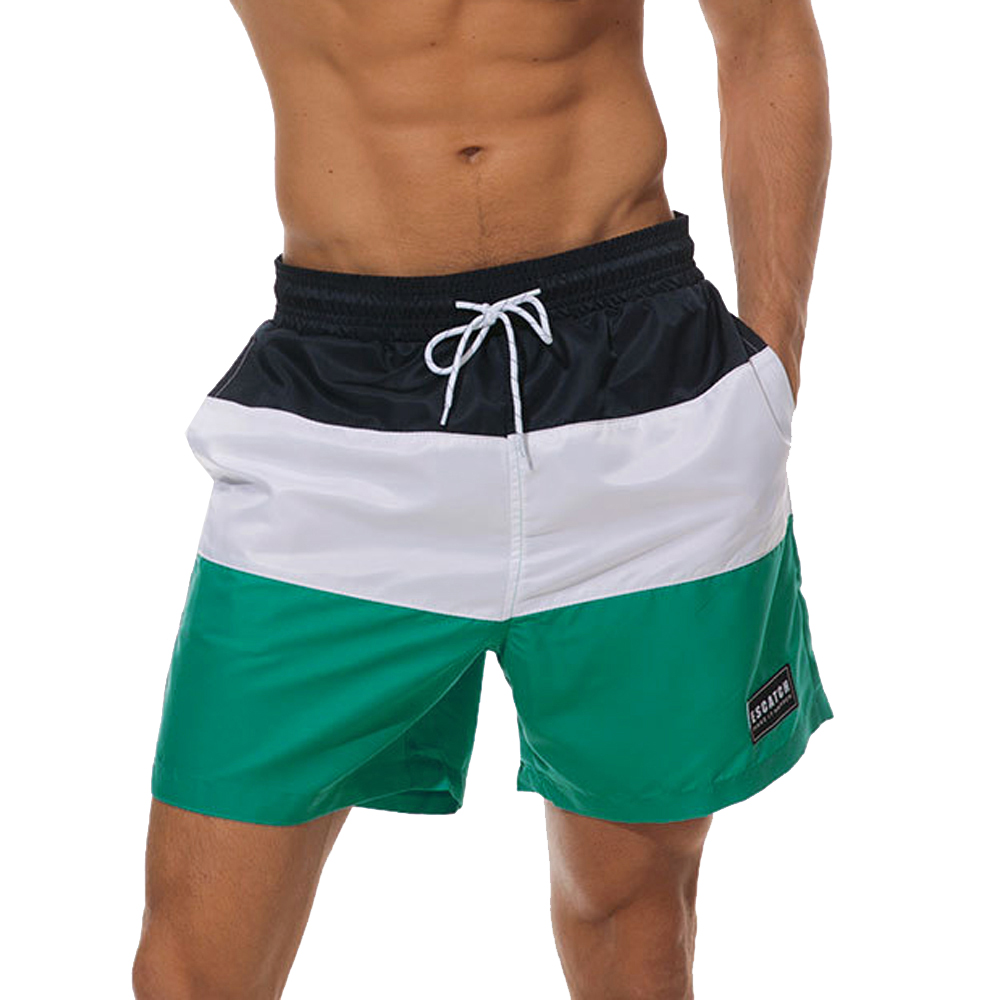 Green Leaf Mens Beach Shorts Chic Board Pants Adult Surf Beach Trunks Home Leisure Trousers