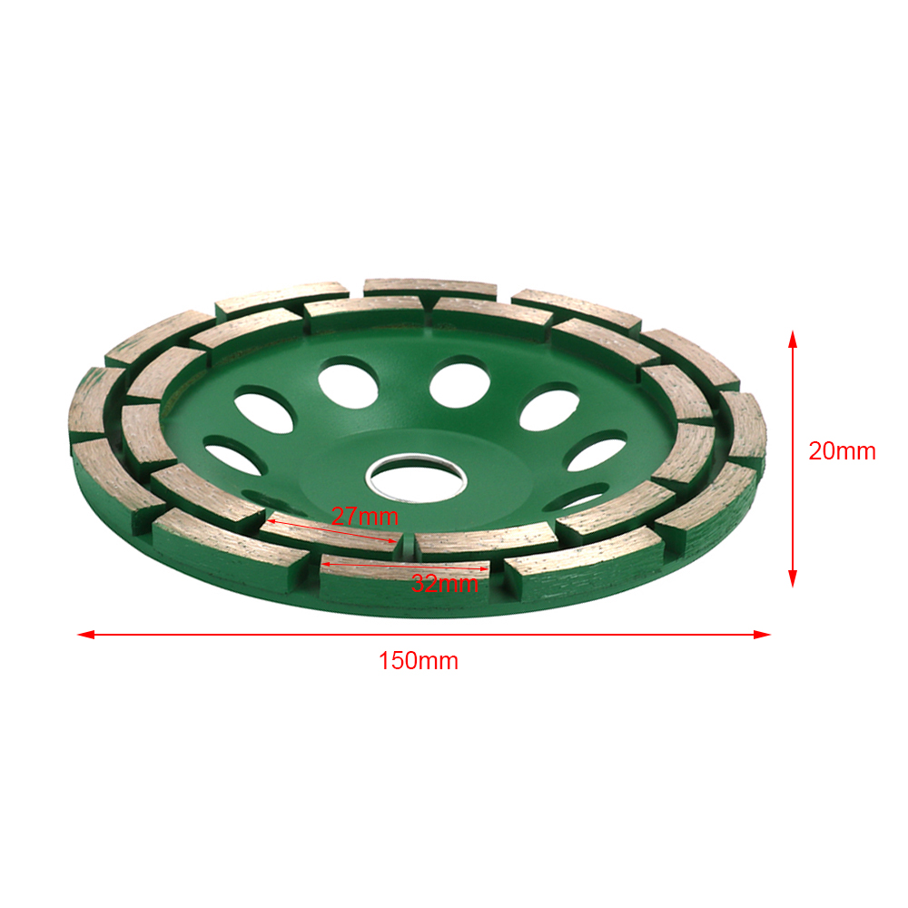 80mm Diamond Wheel Concrete Cup and Plate Green Wide Mill Diamond Segment Grinding Wheel Cup for Concrete Marble Granite