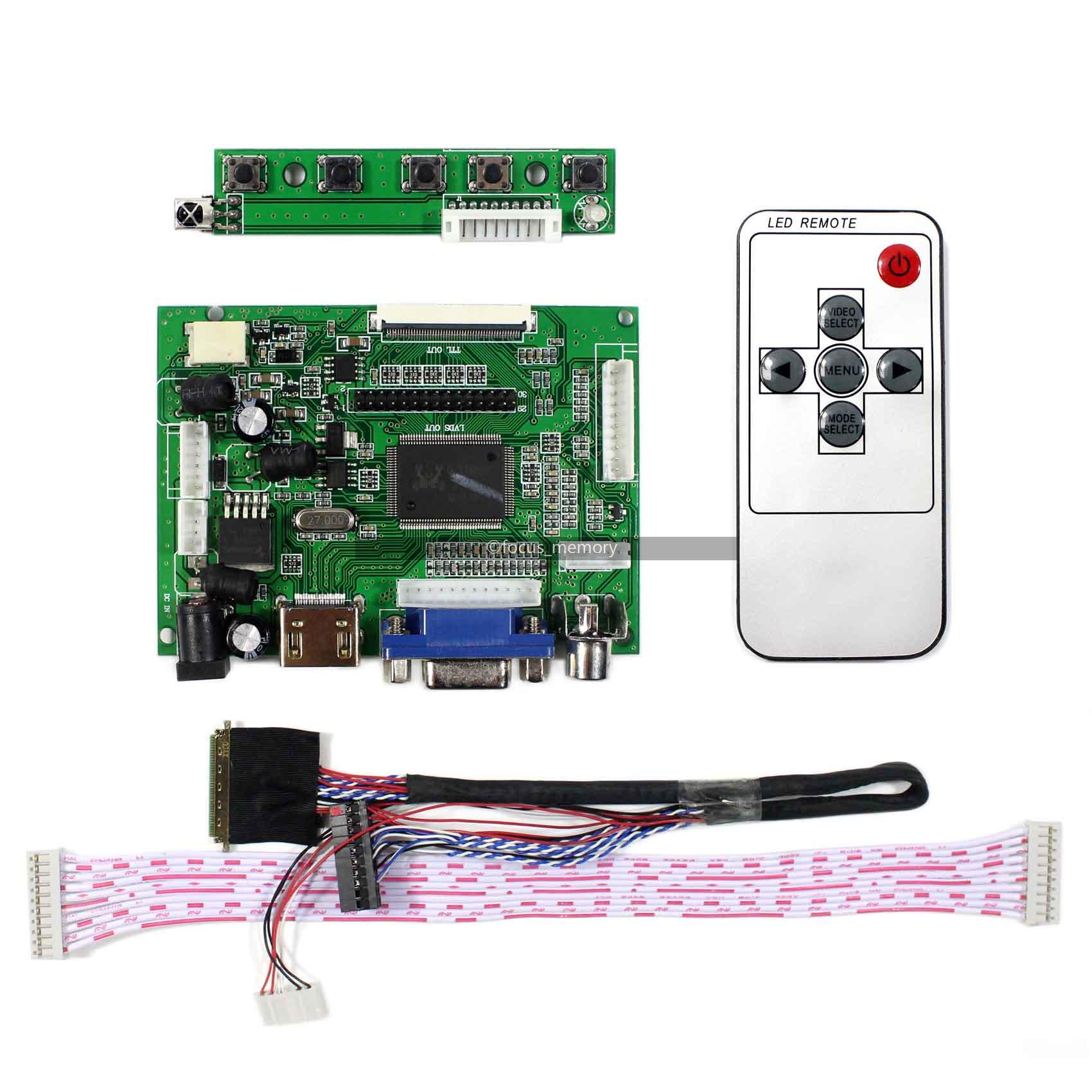 Control Board Monitor LP156WH4-TLQ1 HDMI+DVI+VGA LCD screen Controller Driver