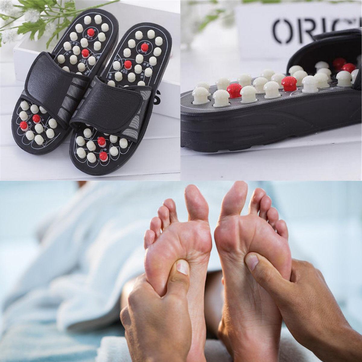 e03442d6372b Foot Massager Slipper Reflexology Sandals Acupressure Foot Acupuncture Shoes