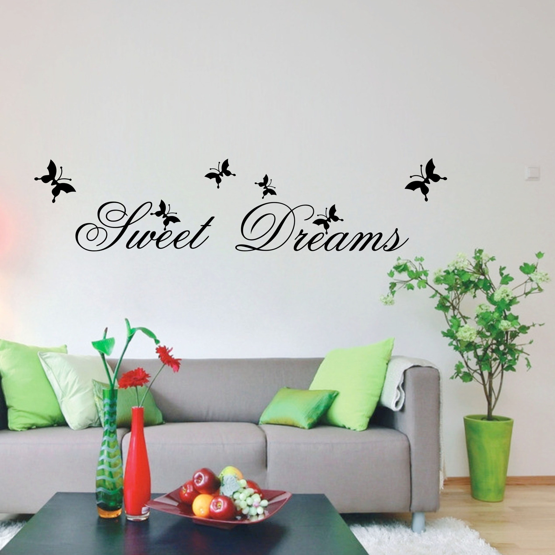spring view scenery sweet dreams butterfly home decor art mural wall