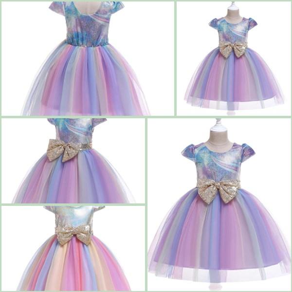 Formal Girl Baby Dresses Bridesmaid Kid Wedding Princess Tutu Flower Dress Party