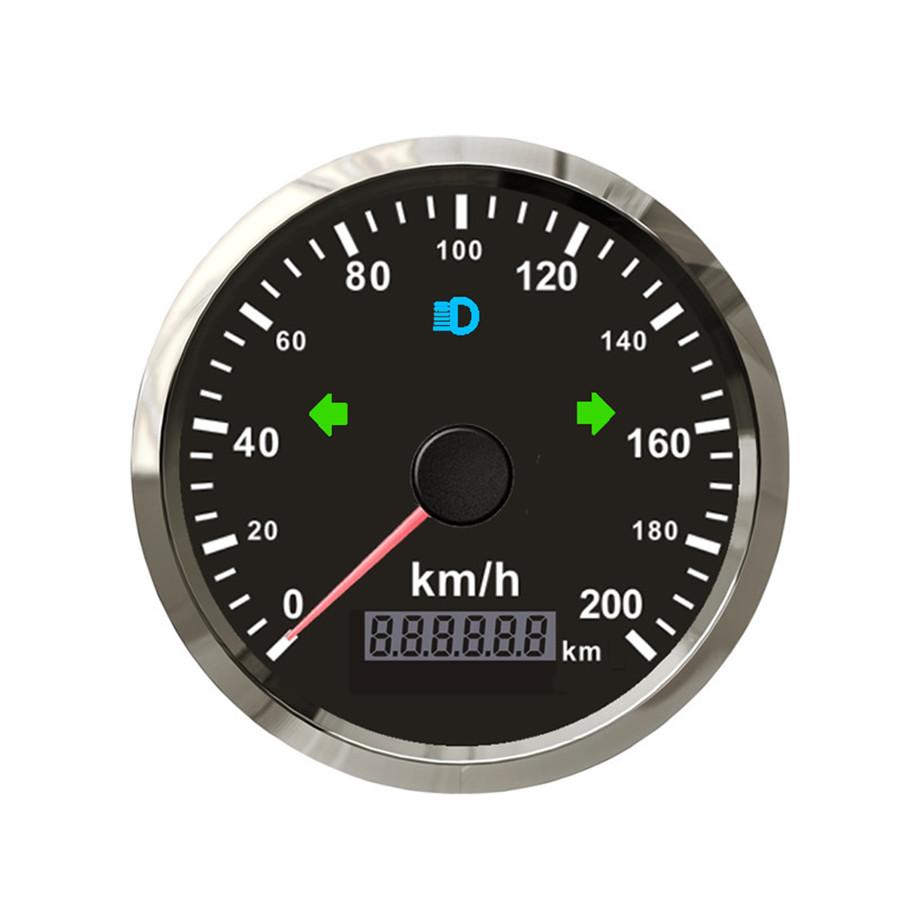 Kilometerzaehler Tachometer Messgeraet LED-Hintergrundbeleuchtung Schwarz N H2R1