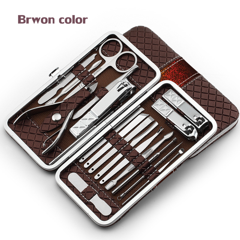 Kits Pedicure Tools Manicure Sets Nail Clippers Stainless Steel 18 ...