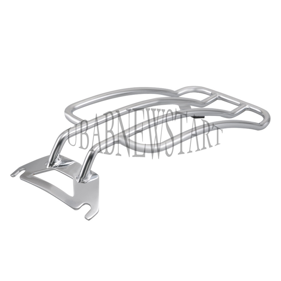 New Chrome Solo Seat Luggage Rear Fender Rack Harley Road King FLHR Bagger
