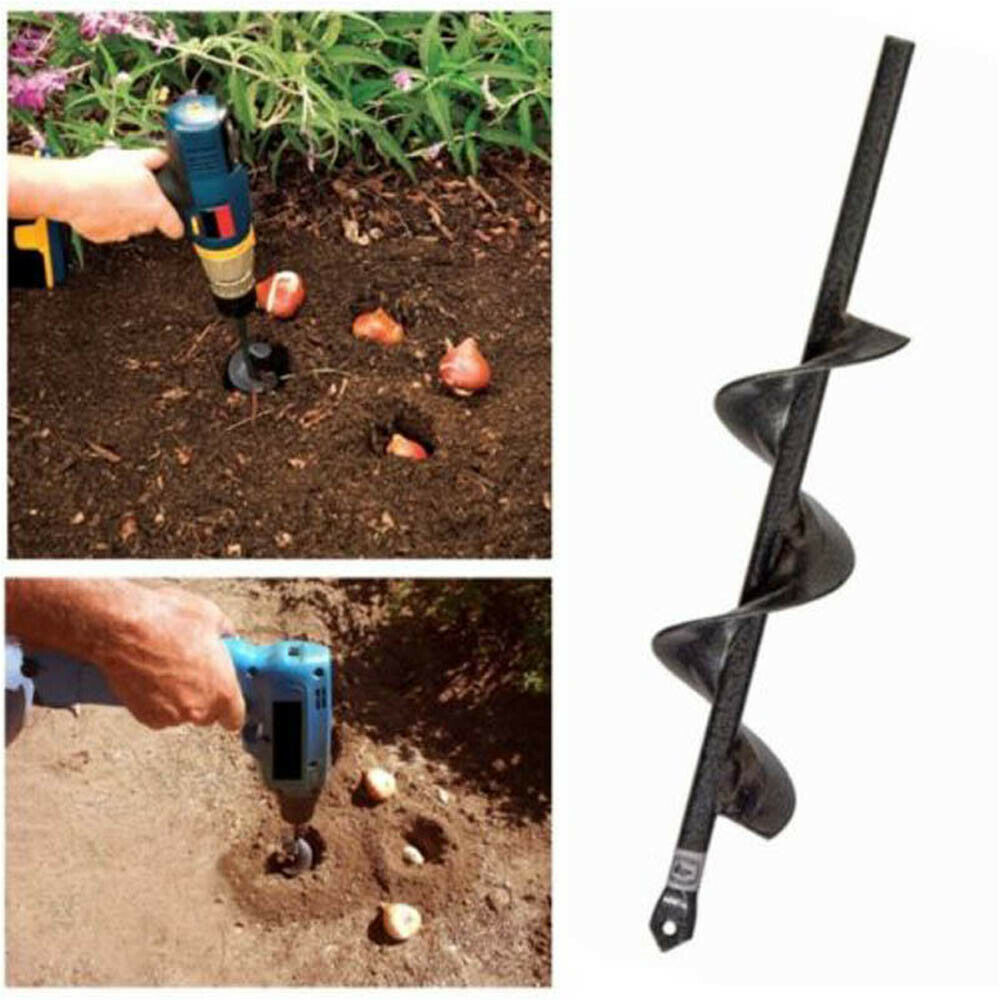 Broca De Taladro En Espiral Para Jardín Plantador Helicoidal Excavadora Macetas