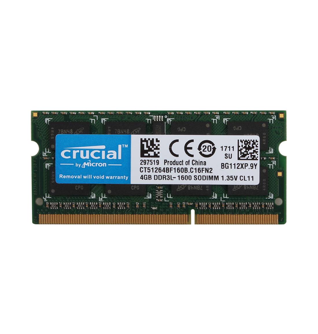Crucial RAM 16G 8GB 4GB PC3L-12800 DDR3L 1600MHz Laptop Memory SODIMM 204pin Lot