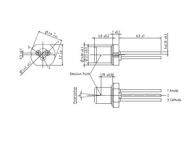 osram 450nm 80mw blue laser diode ld single mode pl450b to18 5 6mm 712201488791