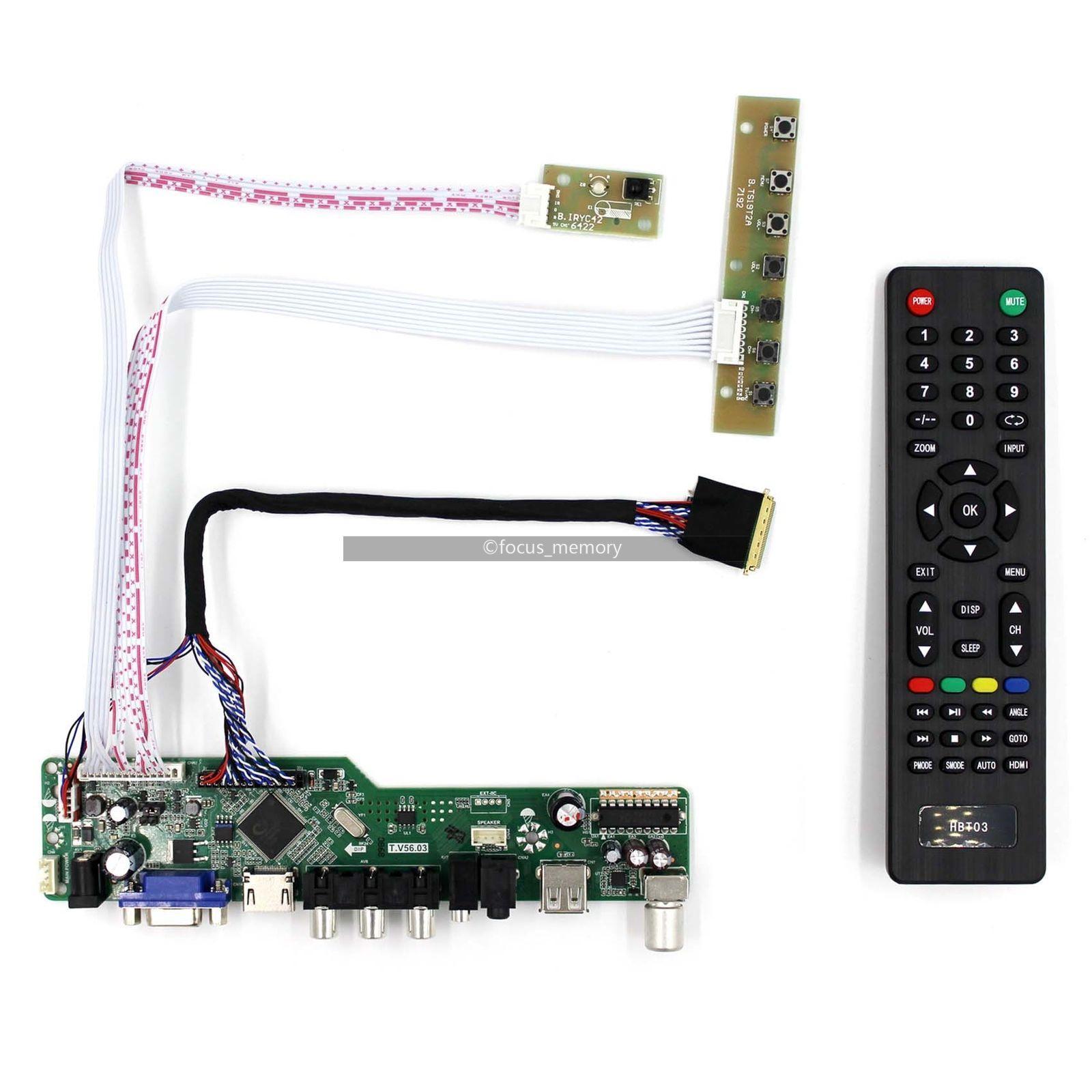 Kit for LTN156AT24  TV+HDMI+VGA+USB LCD LED screen Controller Driver Board