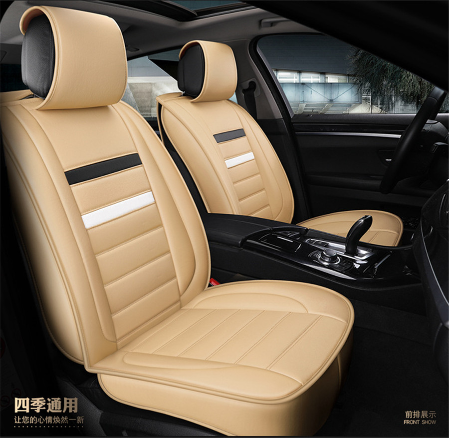 Tremendous Details About Deluxe Pu Leather Car Seat Covers Full Seat Cover For Auto Interior Accessories Theyellowbook Wood Chair Design Ideas Theyellowbookinfo