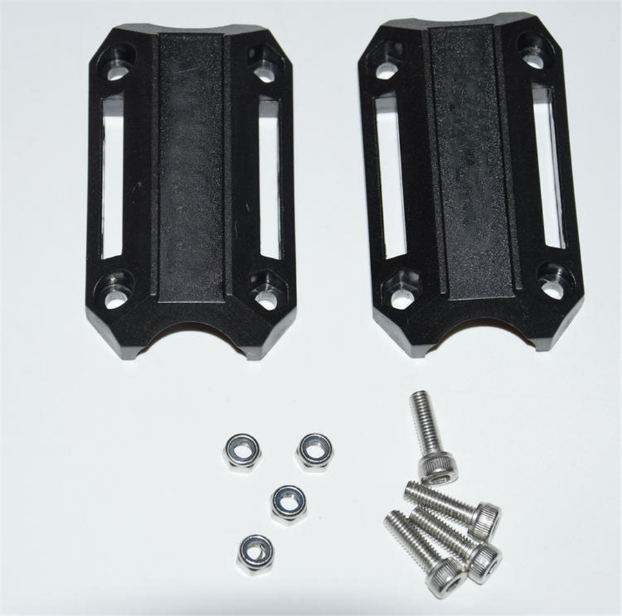 Motorbike Engine Guard Bumper Protection Decorative Block 25mm Crash Bar Black