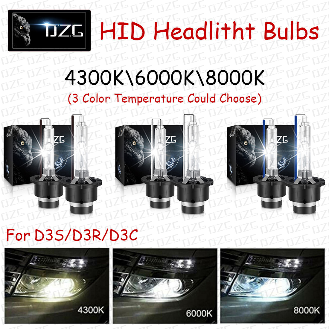 2x D3S//D3R//D3C OEM HID Xenon Headlight Bulbs Lamps 8000K 12V 35W