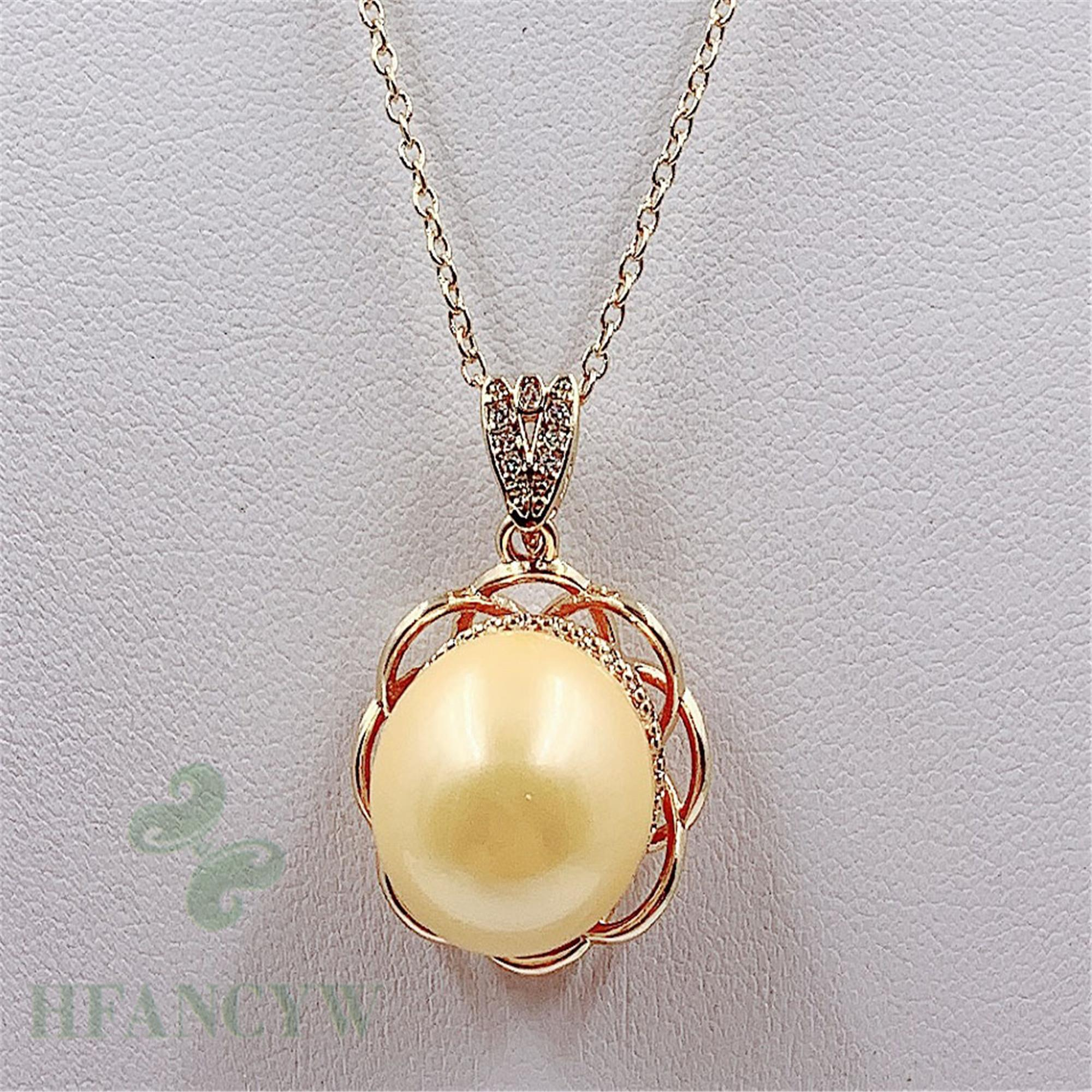 15-16mm White Baroque Pearl Pendant Without Defect No Repair light holiday