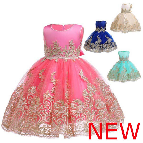 Baby Dress Kid Dresses Flower Party Formal Tutu Girl Princess Wedding Bridesmaid