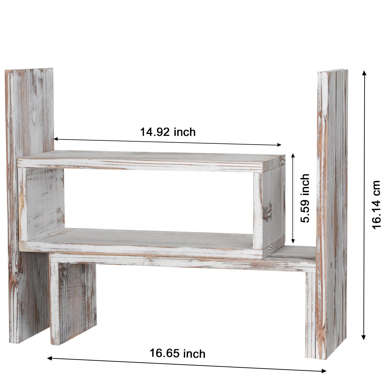 Details About Wood Desktop Shelf Desk Storage Organizer Table Bookshelf Bookcase Office Shelve