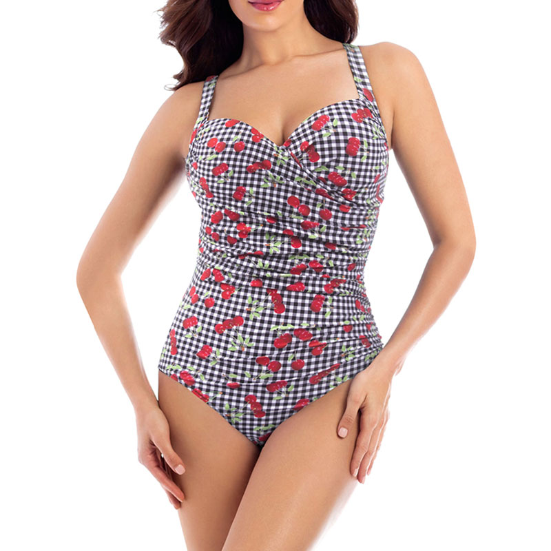 Blooming Jelly Womens Ruched Plus Size One Piece Swimsuit Bathing Suit Monokini