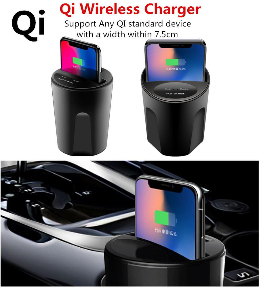 qi induktive auto ladestation wireless charger halterung f r iphone x 8 samsung ebay. Black Bedroom Furniture Sets. Home Design Ideas