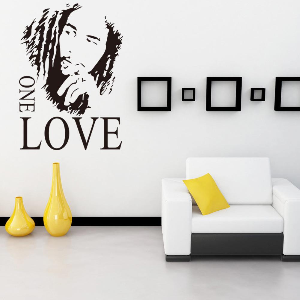 Wall Sticker Vinyl Art Decor BOB MARLEY One Love Mural Removable ...